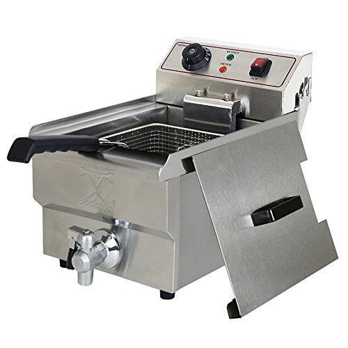 Beeketal-BWF-101P-Profi-Gastronomie-Kaltzonen-Fritteuse-10-Liter-Volumen-fr-max-6-Liter-l-Edelstahl-Gastro-Imbiss-Friteuse-mit-EinAus-Schalter-Doppelheizspirale-Temperaturkontrolle-und-Fettablaufhahn-