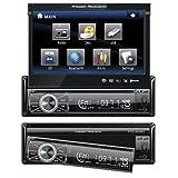 Receptor de DVD Radio AM / FM con pantalla táctil de 7-pulgadas,  y entrada USB / SD Power Acoustik PTID-8920B