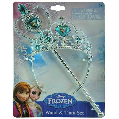Disney Frozen Princess Anna & Elsa Magic Wand & Tiara Combo Set - 1