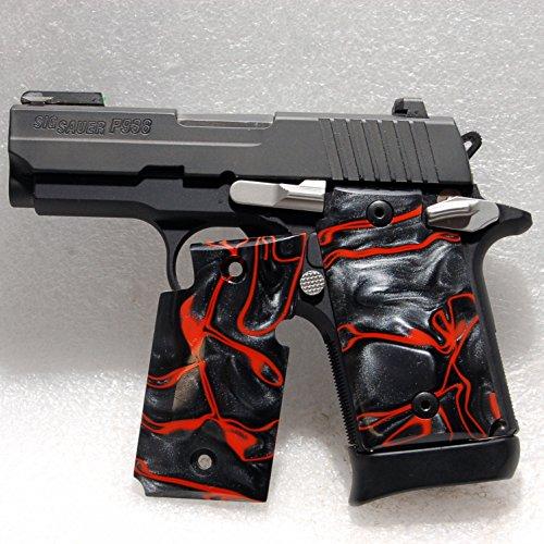 Sig Sauer Gun / Pistol Grips, Sig P938 Grips, Kirinite, Lava
