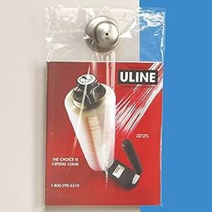 "Amazon.com : Uline 9"" x 14"" 1.5 mil Clear Doorknob Bags, Bundle of 100"