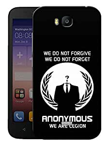 """Humor Gang Anonymous The Legion Printed Designer Mobile Back Cover For """"Huawei Honor Bee"""" (3D, Matte, Premium Quality Snap On Case)"""