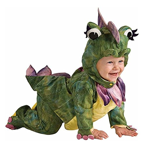 Rubies Infant Boys & Girls Plush Green Dragon Costume Monkey Noah's Ark Outfit