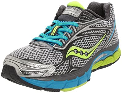 Saucony Women's Power Grid Triumph 9 Running Shoe,Silver/Grey/Citron,6 M US