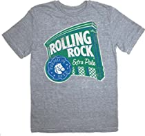 Rolling Rock Beer Extra Pale Retro Distressed Heather Gray Men's T-Shirt Tee