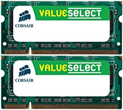 Corsair 4GB (2x2GB) DDR2 667 MHz (PC2 5300) Laptop Memory (VS4GSDSKIT667D2)