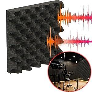 Acoustic Foam Studio Panels Soundproof Tiles Egg Crate 2.5x12x12 Orange 12 Pack