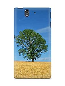 Amez designer printed 3d premium high quality back case cover for Sony Xperia Z (Field economy hay straw preparation summer tree)