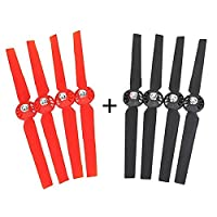 4 Pairs Propellers Rotor Blade Sets A and B for YUNEEC Typhoon G Q500 Q500+ Q500 4K RC Quadcopter Drone by lanlan (Red + Black)