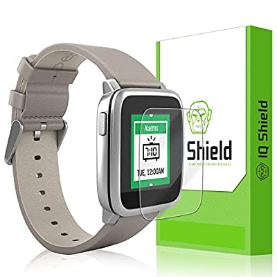 Pebble Time Steel Screen Protector, IQ Shield® LiQuidSkin (6-Pack) Full Coverage Screen Protector for Pebble Time Steel HD Clear Anti-Bubble Film - with Lifetime Warranty