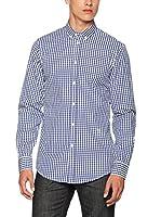 Trussardi Jeans Camisa Hombre (Azul / Blanco)