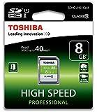 Toshiba Scheda di Memoria SDHC 08 GB, 40 Mb/s, Cl 10, UHS-I, Nero/Bianco/Verde
