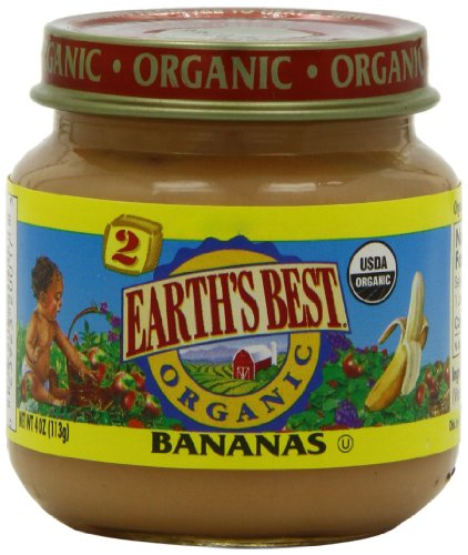 Earth's Best Organic Bananas, 4 Ounce Jars (Pack of 12)