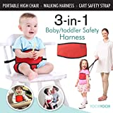 Travel High Chair + Portable High Chair + Toddler Safety Harness + Shopping Cart Safety Strap. Winner Of 3 AWARDS...