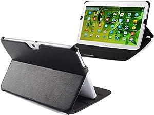 UltraSlim Case Tasche Samsung Galaxy Tab 3 10.1 P5200 3G P5210 WiFi Hülle mit Sleep / Wake-Up und Standfunktion Schutzhülle Cover in schwarz
