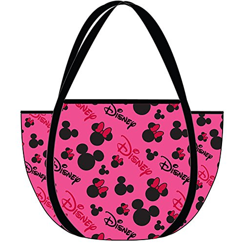 Disney Classic Minnie Mouse HEADS & BOWS Mesh Tote Bag - Pink Black