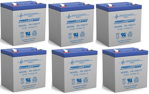 12V 5Ah Arjo Chair Lift Sla Replacement Battery - 6 Pack