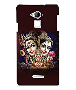 printtech Lord Shiv Parvati Family Back Case Cover for COOLPAD NOTE 3 / COOLPAD NOTE 3 PLUS