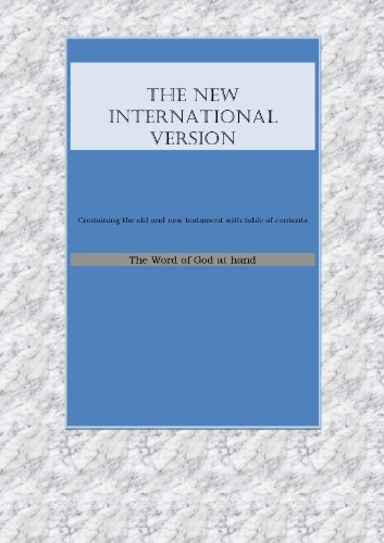 Holy Bible--New International Version