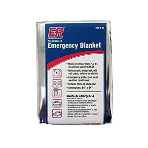 ER Emergency Ready Thermal Mylar Blankets, Pack of 4