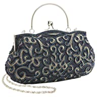 MG Collection Navy Hand Embroidered S…