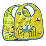 Sugar Booger Baby Waterproof Mini Bib Gift Set of 2. Icky Bugs Feeding Collection. ORE Originals.