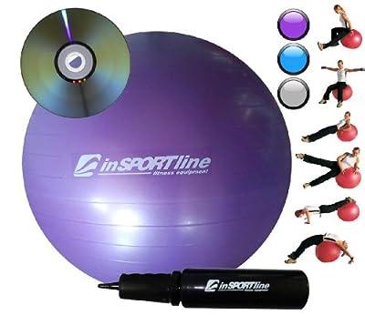 Comfort Set Gymnastik Reha Yoga Ball 85 cm+Pumpe+DVD violett