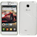PhoneNatic LG Optimus F5 Hülle Silikon clear S-Style Case Optimus F5 Tasche + Schutzfolien