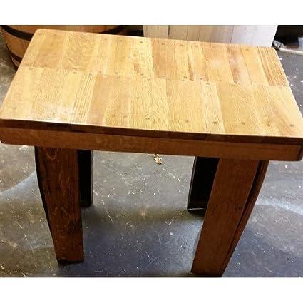 Mesa de centro de madera maciza de roble barril medio