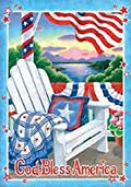God Bless America Garden Flag
