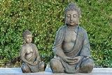 Detailed Stone Look Resin Buddha Garden Ornament