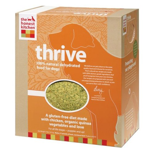 Honest Kitchen Thrive, Gluten-Free Dehydrated Raw Dog Food w/ Chicken, 4lb