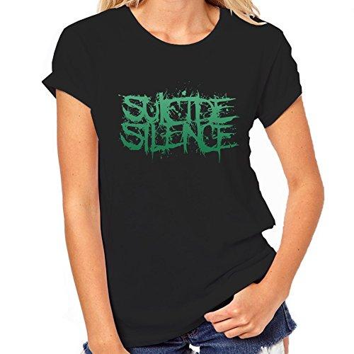 Suicide Silence con Logo-Maglietta classica da donna, colore: verde nero XX-Large