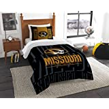 NCAA Missouri Tigers NCAA Twin Comforter & Sham, Black, Twin Size