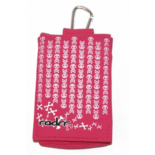 Insulin Pump Case - Pink Skulls