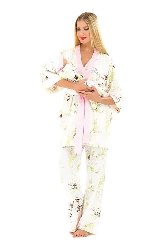 The Olian 5pc Nursing PJ Set w matching Baby Outfit