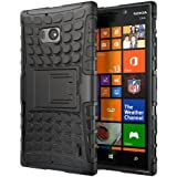 Hyperion Nokia Lumia Icon 929 Windows Phone Explorer Hybrid Case (Compatible with Verizon Nokia Lumia Icon 929) **2 Year No Hassle Warranty** [Hyperion Retail Packaging] (BLACK)