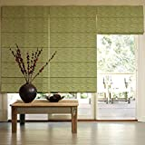Presto Bazaar Green Jacquard Window Blind (48 Inch X 44 Inch)