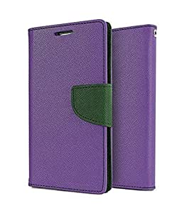 SCHOFIC Premium Fancy Wallet Diary Faux Leather Mobile Flip Case Cover [Pouch] with Card Slots [POCKETS] , Stand View and Magnetic Strap [LOCKING] for Motorola Moto G3 -Purple