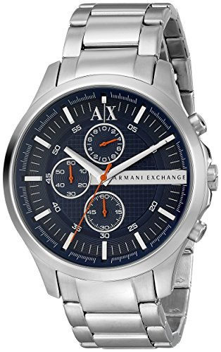 Armani Exchange AX2155 Silver Steel Bracelet & Case Mineral Men's Watch