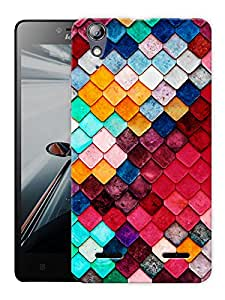 """Humor Gang Colorful Boxes Pattern Printed Designer Mobile Back Cover For """"Lenovo A6000 - A6000 PLUS"""" (3D, Matte, Premium Quality Snap On Case)"""