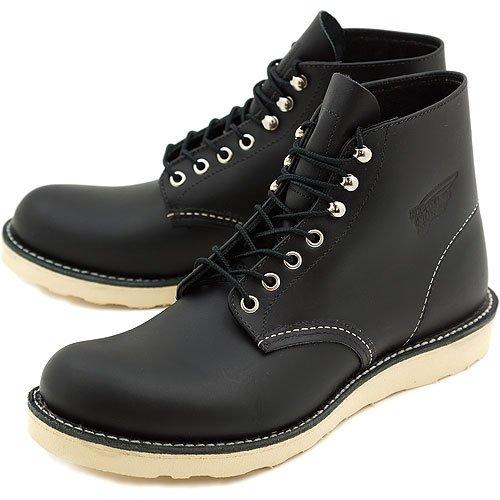 REDWING レッドウィング ブーツ #8165 CLASSIC WORK BOOTS クラシック ワークブーツ 6インチ ラウンドトゥ/プレーントゥ BLACK CHROME(RED WING) 8.5(26.5cm)