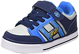 Heelys Bolt Plus X2 Sneaker (Little Kid/Big Kid), Navy/New Blue/Lunar Grey, 13 M US Little Kid