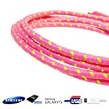 HD UltraTech - PINK 1M Braided Micro USB Sync Data Charger Cable For Samsung Galaxy S2 S3 S4 Note 2 3 Ace Blackberry HTC Nokia LG Sony (Pink)