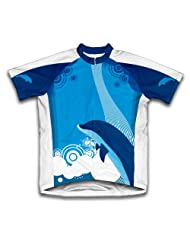 Dancing Dolphins Short Sleeve Cycling Jersey for Women