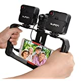 SUPON U Rig Pro Smartphone Video Rig, Phone Movies Mount Handle Grip Stabilizer, Filmmaking Recording Rig Case for Video Maker Filmmaker Videographer - Fits iPhone, Samsung, HuaWei,and all Phones (Color: U-Rig Pro)