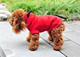 Halloween Red Devil Dog / Cat Plush Costumes Pets Jumpsuit Clothes Apparel with Devil Horn / Tail (Red Devil, L)