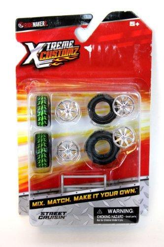 Ridemakerz Xtreme Customz Street Cruisin' Wheel and Rims Set - 1