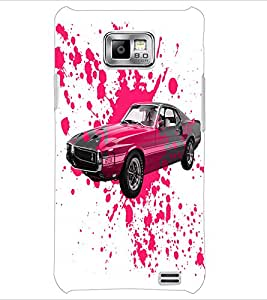 PrintDhaba Car D-2824 Back Case Cover for SAMSUNG GALAXY S2 (Multi-Coloured)