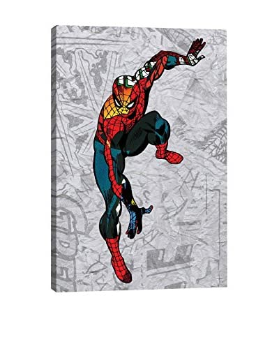 Marvel Comics Gallery Spider Super Silhoutte Collage Canvas Print